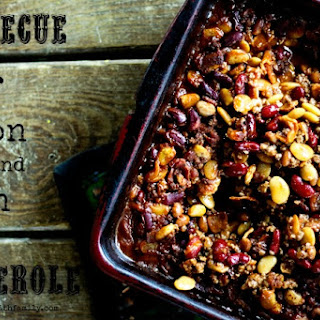 Barbecue Beef, Bean, and Bacon Casserole.