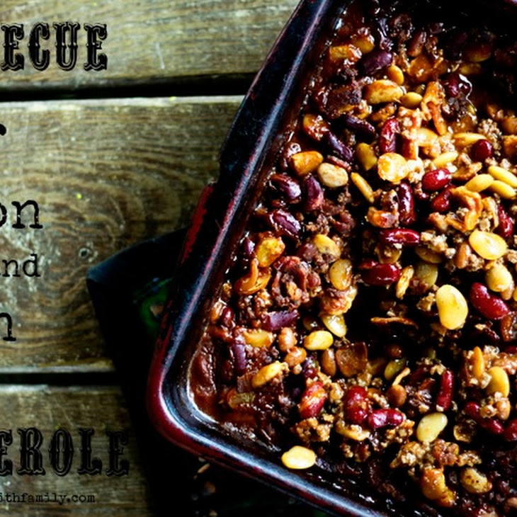Barbecue Beef, Bean, and Bacon Casserole