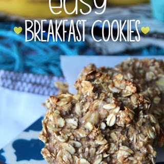 Healthy Oatmeal Breakfast Cookies.