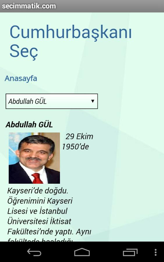 seçim anketi - screenshot