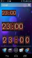 Screenshot of Nixie Tube Clock Widget 2.x
