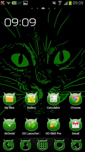 【免費個人化App】Green Cats Theme-APP點子