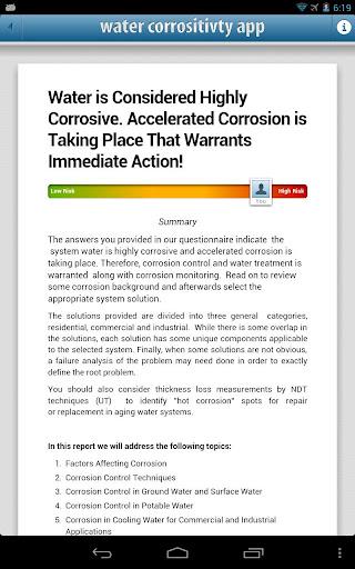 Water Corrosion Analyzer