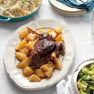 Slow-Cooked Lamb with Lemon and Oregano