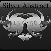 Silver Abstract Digital Clock