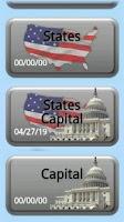 Screenshot of Quiz: USA States and Capitals