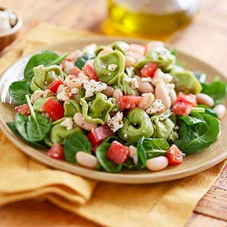 Spinach Tortellini with Beans and Feta
