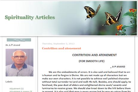 Spirituality-Articles