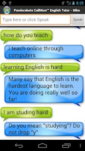 Pandorabots English Tutor screenshot