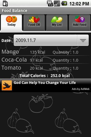 Food Balance - screenshot