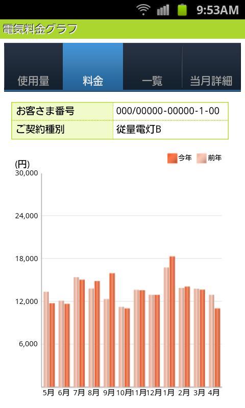 でんき家計簿- screenshot