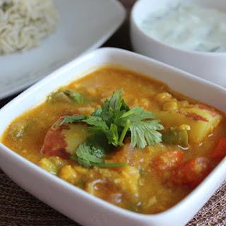 Spiced Lentil Vegetable Curry 1 (Vegetarian Dalcha).