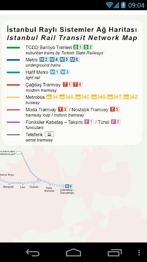 イスタンブールメトロやトラムの地図