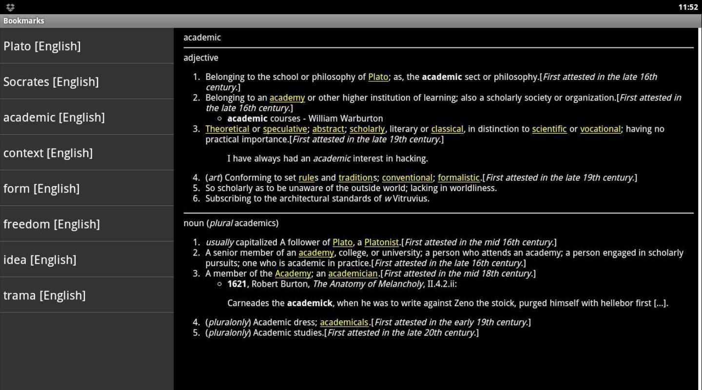 Online Dictionary - screenshot