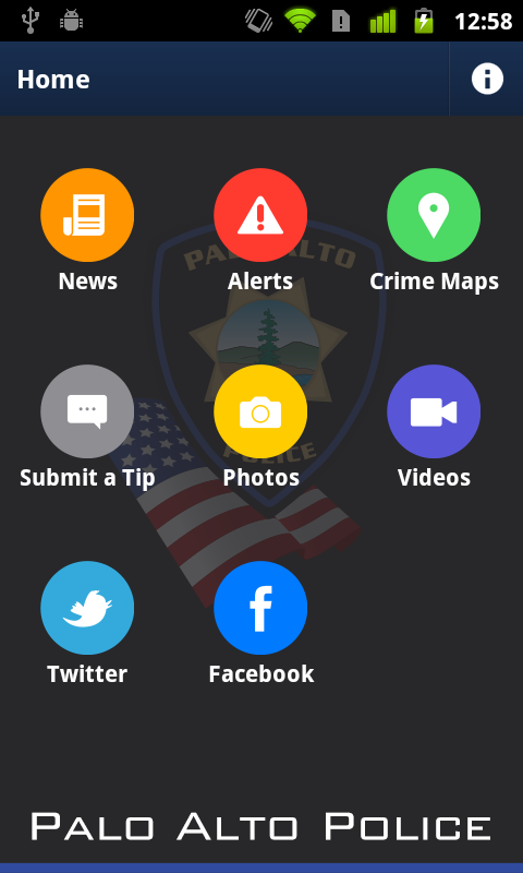 Palo Alto Police Department- screenshot