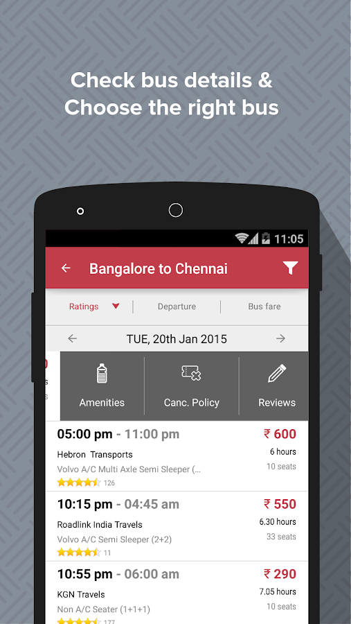redBus - Bus Ticket Booking - screenshot