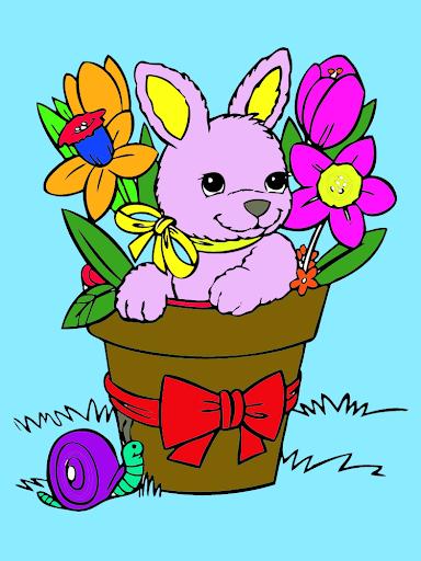 สมุดระบายสีกระต่ายน้อย