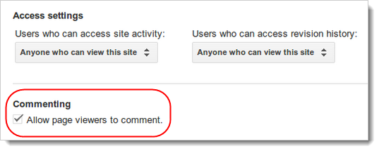 Allow page viewers to comment