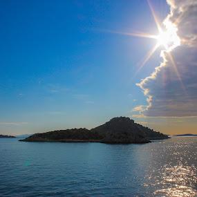 by Marko Dragović - Landscapes Cloud Formations ( clouds, trogir, croatia, dalmatia, sun )