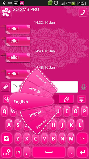 GO短信加强版粉红发烧
