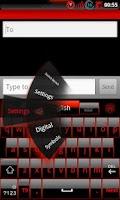 Screenshot of GOKeyboard Theme Glassy Red
