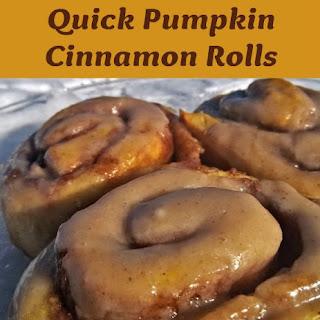Quick Pumpkin Cinnamon Rolls.