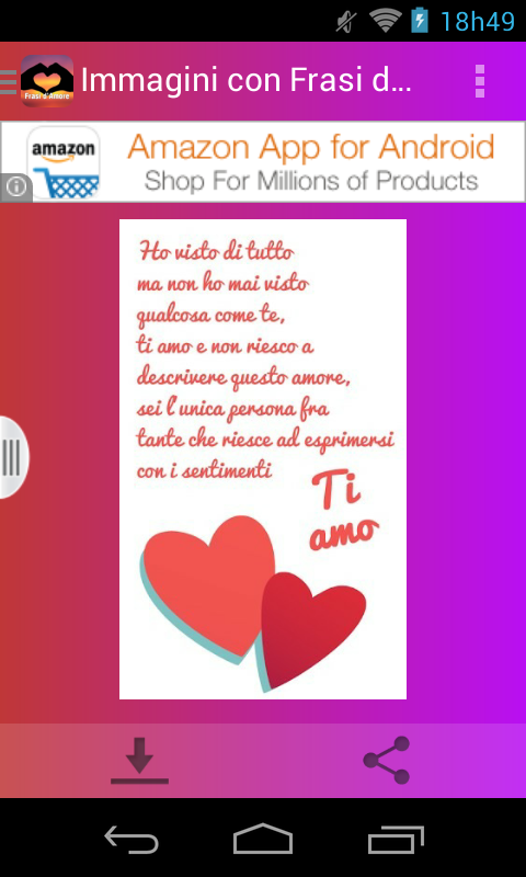 spesso Immagini con Frasi d'Amore - Android Apps on Google Play JR05
