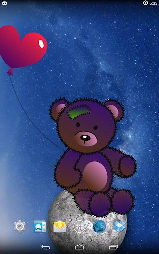 泰迪熊在月球上