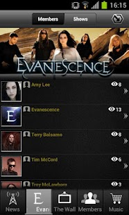Evanescence: Mobile Backstage - screenshot thumbnail