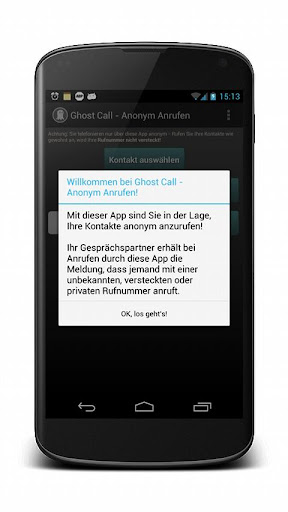 Ghost Call - Anonym Anrufen