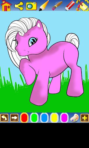 Colorear ponys para niños