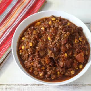 Tex Mex Chili in Crock-Pot.