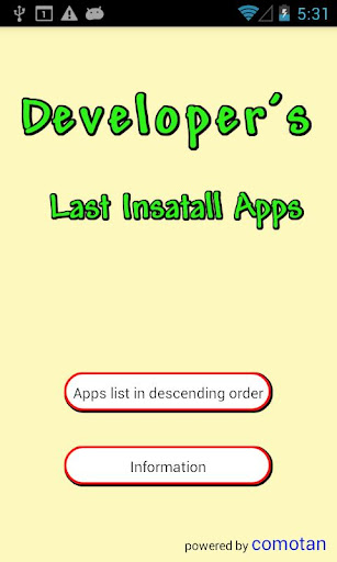 LastInstallApps for developers