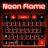 Neon Flame GO Keyboard