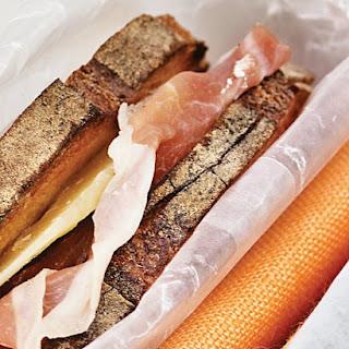 Prosciutto and Cheddar Sandwiches.