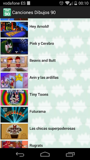 Canciones Dibujos Animados '90