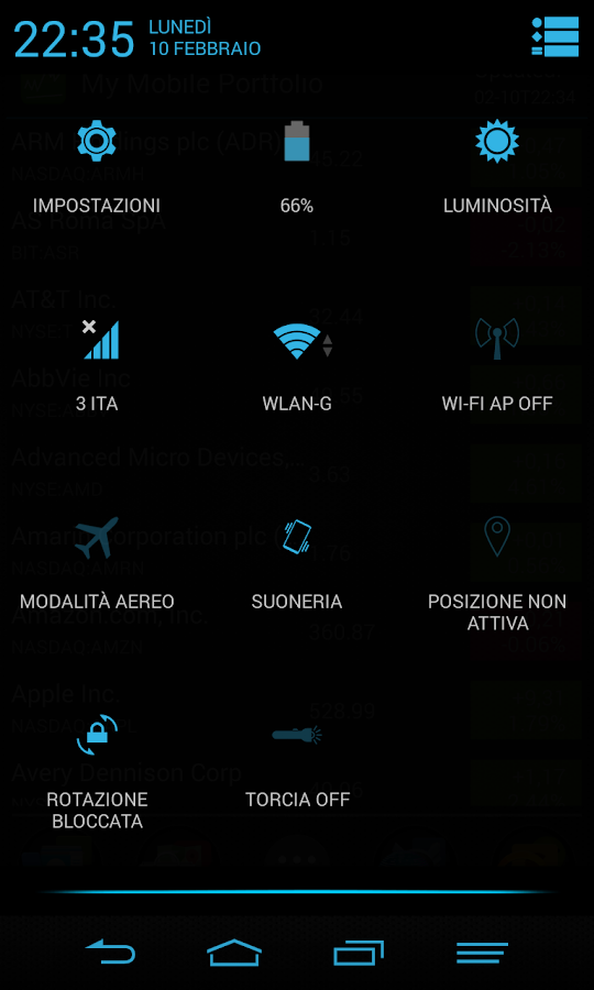 Blue Infinitum Theme - Light- screenshot