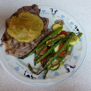 Pork Chops with Pineapple Mustard Sauce.