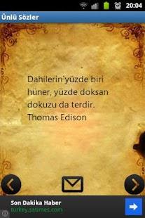 Ünlü Sözler - screenshot thumbnail