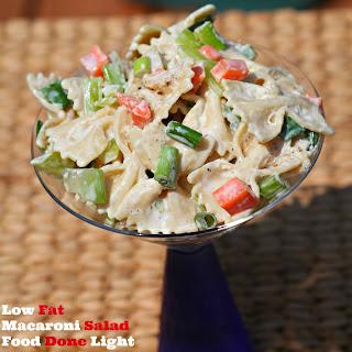 Low Fat Macaroni Salad.