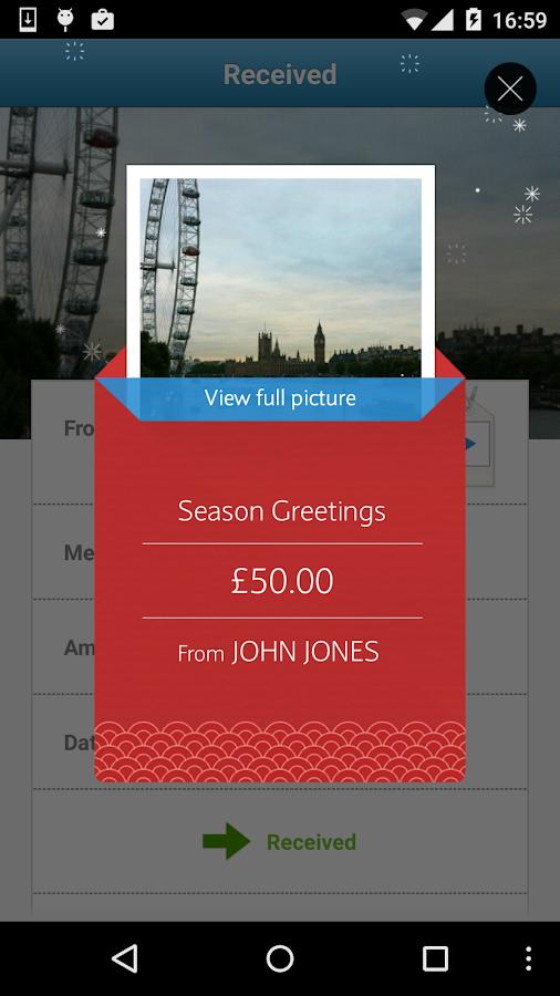 Barclays Pingit - screenshot