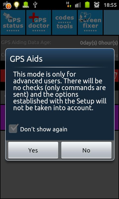 GPS Aids - DONATE - screenshot