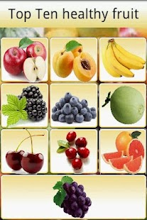 Top Ten healthy fruit - screenshot thumbnail