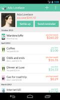 Screenshot of Splitwise