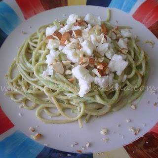 Pasta with Parsley, Goat Cheese, and Almonds