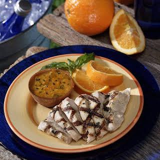 Basil Pesto Turkey With Citrus Sauce.