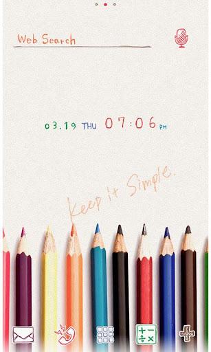 icon wallpaper Colored Pencils