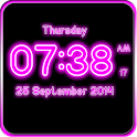 Neon Digital Clock LWP icon
