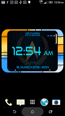 Starfleet LCARS Clock - screenshot