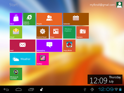 Windows 8 Metro Launcher - screenshot thumbnail
